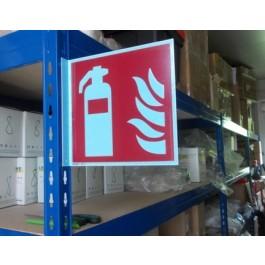 """Fahnenschild """"Feuerlöscher"""", Kunststoffplatte"""
