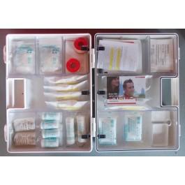 Erste-Hilfe-Koffer Gr. 3 weiß Typ 1 - Sterilteile lange Haltbarkeit Innen