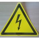 """Hinweisschild """"elektrische Spannung"""""""
